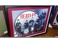 The beatles picture disc framed LP