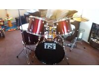 Session Pro Drum Kit in wine red