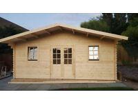 Log cabin, summerhouse, garden building (20 X 16 FT, 44 MM)