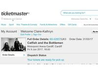 Catfish & The Bottlemen 2x Standing Tickets Cardiff