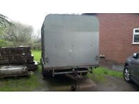 Ivor williams stock and flat trailer