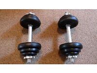 York Fitness Cast Iron Dumbbell Set - Black, (20 Kg)