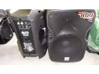 A PAIR OF TRUSONIC 115s PERFECT COND. 800watts apiece!!! IDEAL FOR BAND/SINGER/DJ.