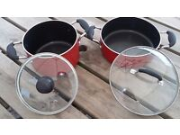 2 large saucepans used twice. Cassarol new all pro cook make