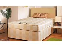 Free Delivery Brand New Double Divan Bed And Mattress Headboard And Drawers Optional