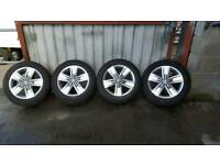 "Genuine VW Volkswagen Transporter T5 T6 Highline Davenport 17"" Alloy Wheels & Tyres Continental"