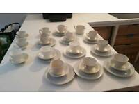 Mixed white tea set set of 14