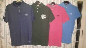 4 x Super Dry t-shirts in fantastic condition size large