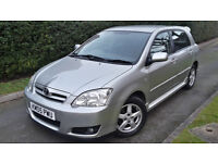 2005 TOYOTA COROLLA 1.4 VVTI PETROL,5 DOOR,ONE OWNER,VERY LOW MILEAGE,GOOD COND.
