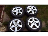 "4x 17"" alloy wheels - Peugeot - nice"
