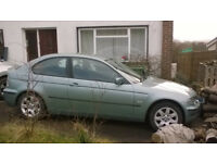 BMW316ti spares or repairs with ALL SEASON TYRES (M+S)
