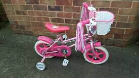 Girls sparkle bike