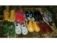 9 pieces of kids trainers