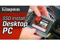 SLOW COMPUTER LAPTOP ADD SSD TO IMPROVE 70 % PERFORMANCE DESKTOP PC