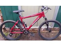 "Carrera Banshee Full Suspension Mountain Bike 19"" Frame Light Use"