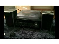 Record player with usb slot
