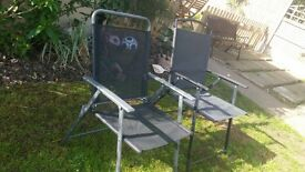 2 black garden chairs ideal as as spares