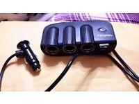 Energizer 12V Triple Socket & Twin USB Adapter