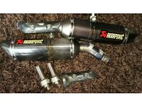 yamaha r1 akrapovic 2009 to 20014 09 , 10 , 11 , 12 , 13 , 14