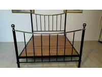 Black Metal Queen Size Bed Frame