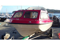 Seahog Hunter 15ft boat with engine and trailer