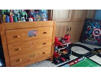 Mammas and pappas junior wardrobe and chest of drawers. Used but good condition.