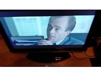 "32"" SHARP LCD TV,FREEVIEW,HDMI,SCART,AUDIO OUT,GENUINE REMOTE & STAND,DVBT...cheap tv"