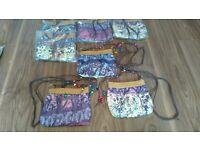 Job Lot handbags, selection of boho chic bags, all brand new