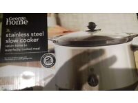 Stainless steel slow cooker george