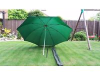 Fishing Brolly Umbrella Strong Nylon 50 inch tilts with free case bag