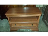 Wooden Television table with drawer