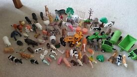 Collection of farm animals. Toys
