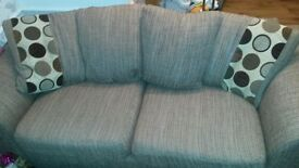 two and three seater sofa comes with large foot stool