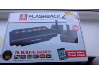 Atari Flashback 4 console - 75 inbuilt games (perfect condition, boxed, with limited edition poster)