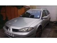 PRICE REDUCED TO £199 -Renault Laguna Dynamique 55 plate - SPARES OR REPAIR offers invited ****