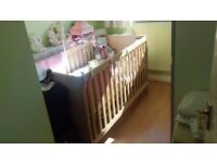 kiddicare nursery sets brand new cot , wardrobe and dresser available in ivory or walnut