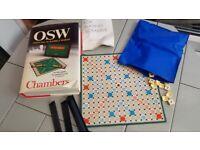 Travel Scrabble board game