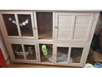 2 tier rabbit hutch and covers