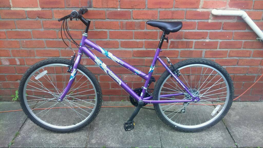 Ladies Active charisma mountain bike 18 inch frame, Good condition only used a few timesin Sunniside, Tyne and WearGumtree - 26 inch wheels with good tyres, 18 speed gripshift gears, good brakes, good seat, can deliver for cost of fuel, contact bill 07478309256 sunniside NE16 5NU
