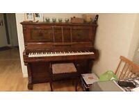 Victorian Auber walnut upright piano