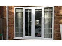 Used Georgian UPVC French Doors with Side Panels