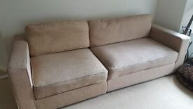 Sofa splits in two for easy transport, light weight but robust