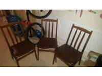 3 dining chairs