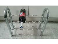 Chrome wine rack.