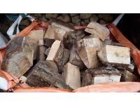 A TONNE BAG OF SOFTWOOD FIREWOOD/ LOGS