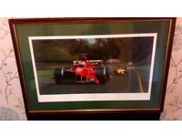 LOVELY FORMULA 1 OIL ON CANVAS