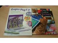 Autumn/ Winter Activity 2 X Outline Stickers & Pop Up Cards Making Books