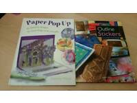 2 X Outline Stickers & Pop Up Cards Making Books