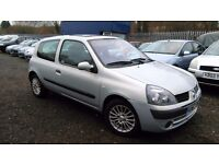 Renault Clio 1.2 16v Expression 3dr,HPI CLEAR, LONG MOT, CLEAN CAR, CHEAP TAX & INSURANCE