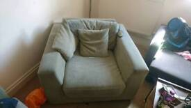 Green sofa (set of two)